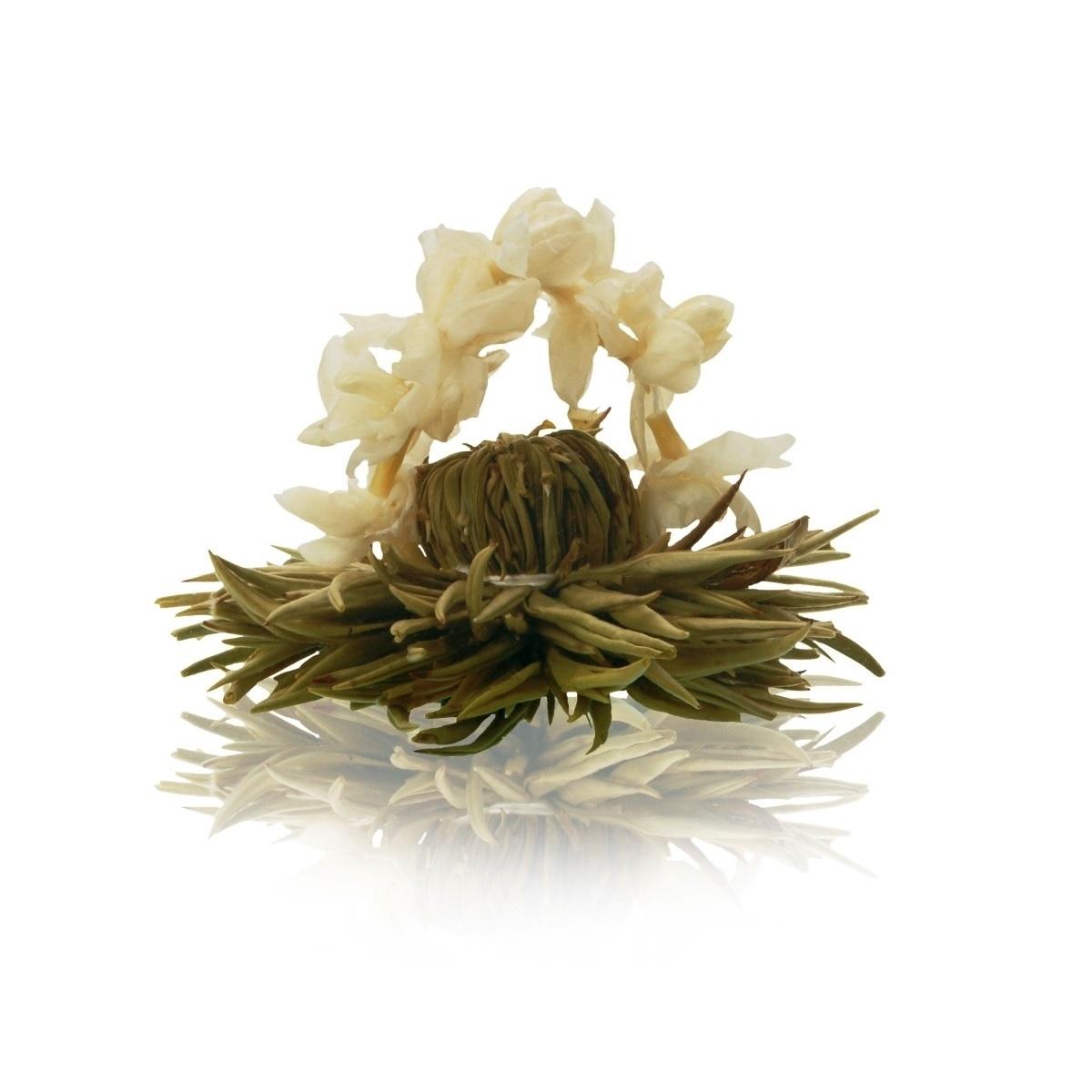 Floare de ceai alb cu iasomie arcada