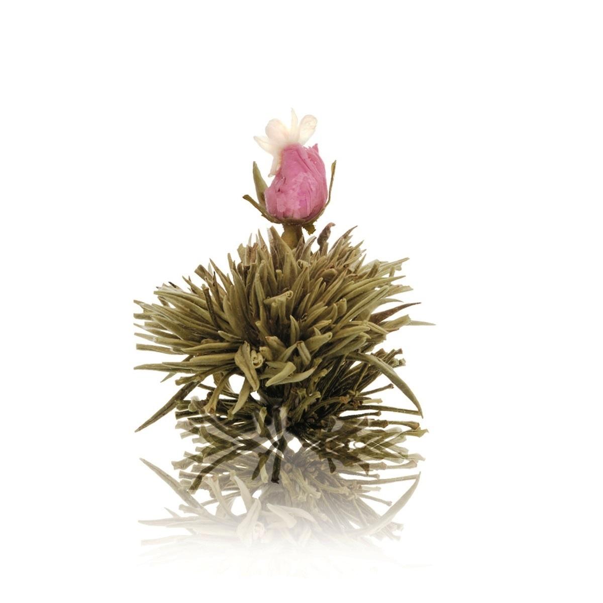 Floare de ceai alb cu trandafir roz si iasomie